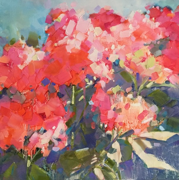 Morning Hydrangea by kathleen broaderick
