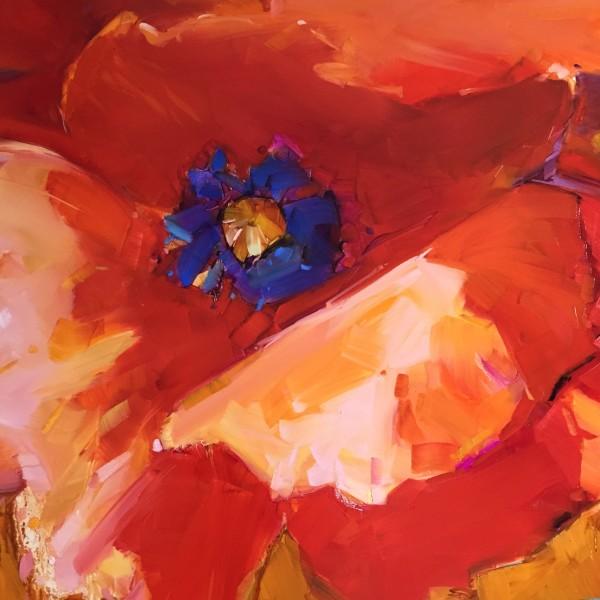 Big Red Poppy by kathleen broaderick