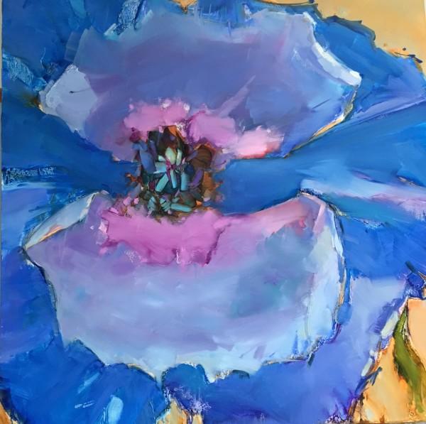 Big Blue Poppy by kathleen broaderick
