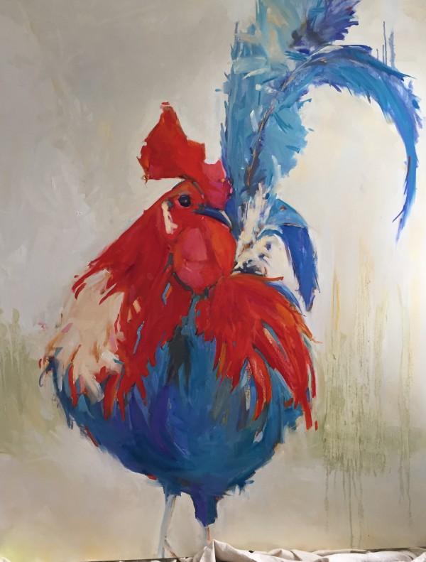 Patriotic Rooster by kathleen broaderick