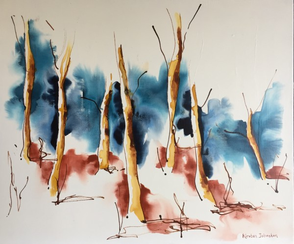 Forest with blue and red oxide by Kirsten Johnston