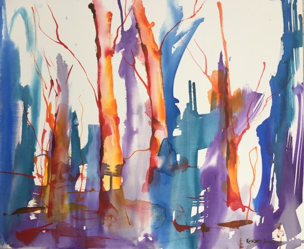 Forest - emerging by Kirsten Johnston