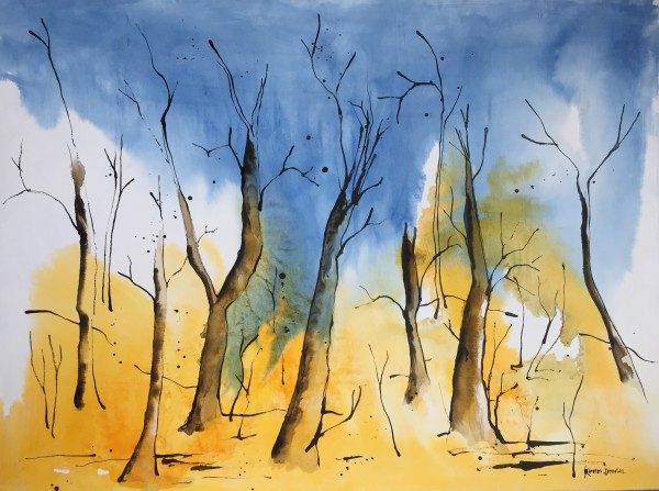 Ghost trees by Kirsten Johnston