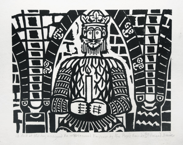 13 And at the day assigned he was crowned Emperor by the Pope's hands by Edward Bawden
