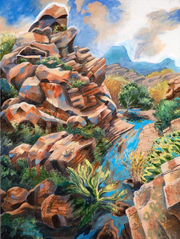 """Rain in the Arroyo"" by Jeff Dallas"