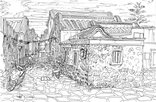 Penghu island old street by Evgeny Bondarenko