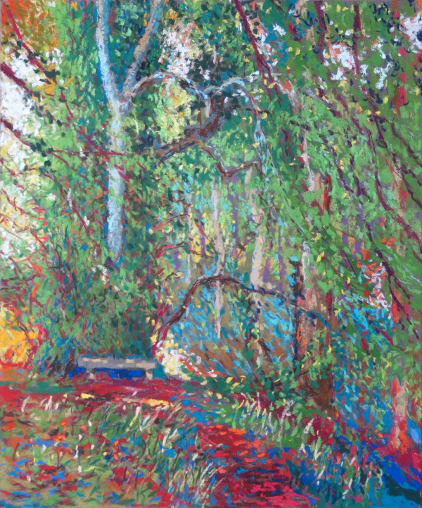 LS57: Seat under Lime Trees - 15th July 2020 by Simon Blackwood