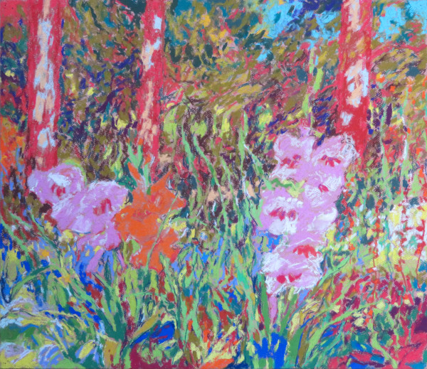 LS71: Gladiolus by the Lawson Cypress Wood - 27th September 2020 by Simon Blackwood