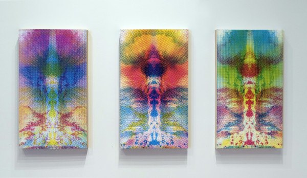 Emanation: Blinded by the Light (Triptych) by Clovis Blackwell