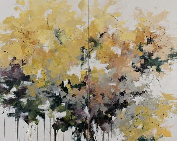 Autumn Slowly Unfolds - Diptych by Carlos Ramirez