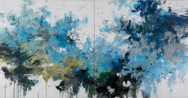 The Lagoon - Diptych by Carlos Ramirez