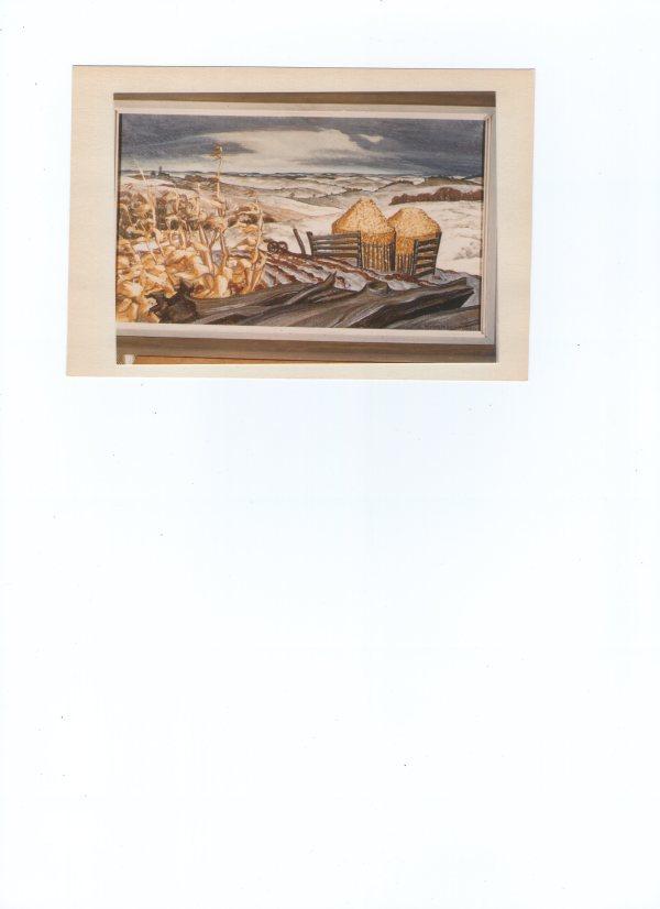 Nebraska Winter, Corn Bins by EUGENE KINGMAN