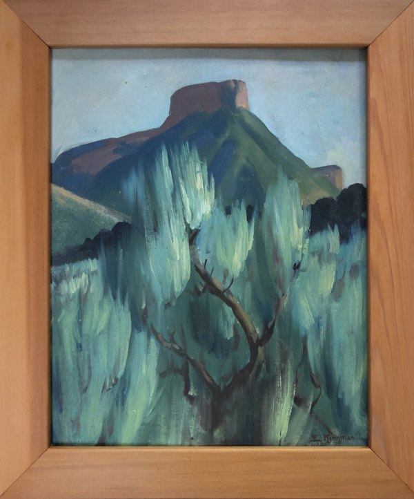Butte Amidst Sagebrush  c. 1959 by Eugene Kingman