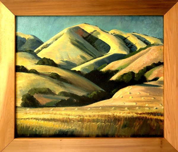 California Hills  1938 (Sketch) by EUGENE KINGMAN