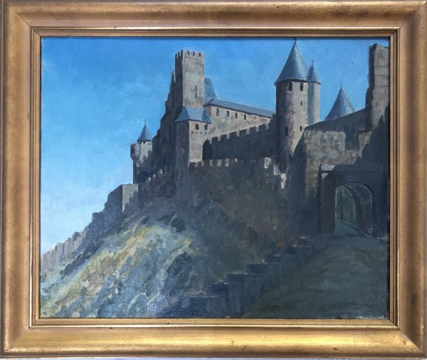 Carcassonne  1927 by EUGENE KINGMAN
