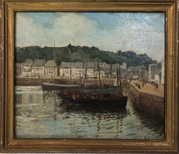 Fishing Boats 1927 by EUGENE KINGMAN