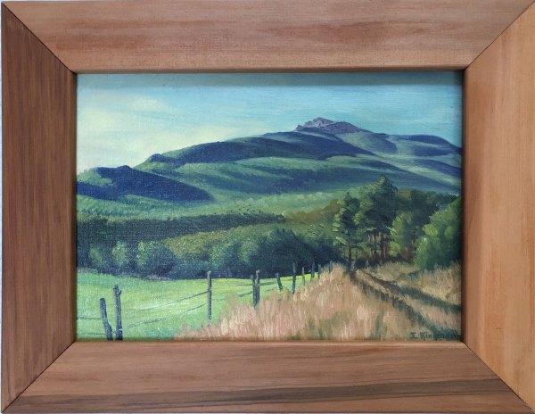 Harvest Time Near Mt. Monadnock  c. 1943 by Eugene Kingman