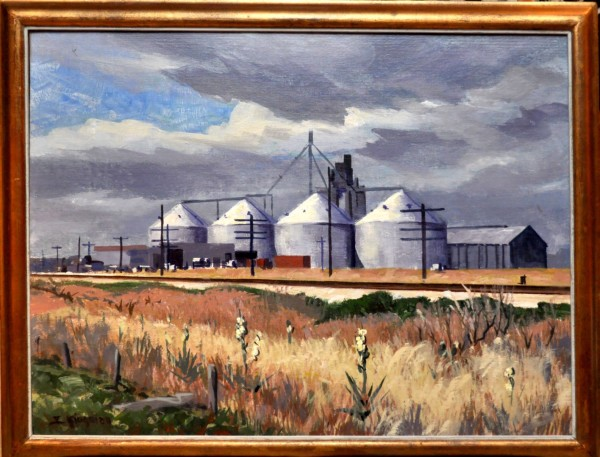 Corn Silos (Nebraska) c. 1966 by Eugene Kingman