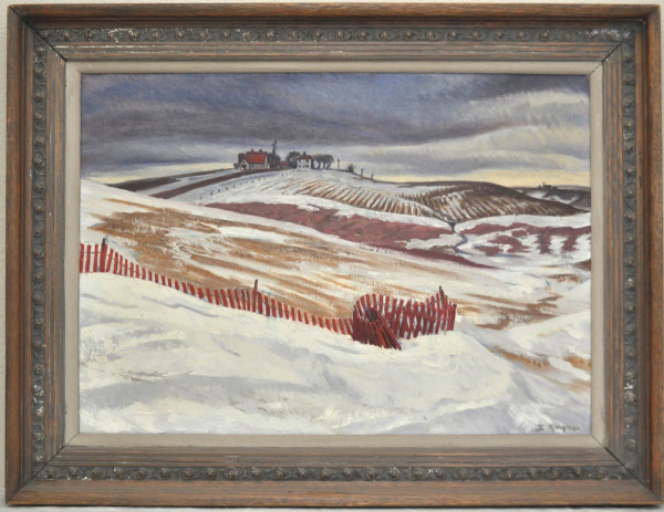Melting Snows  (Nebraska)   1950 by EUGENE KINGMAN