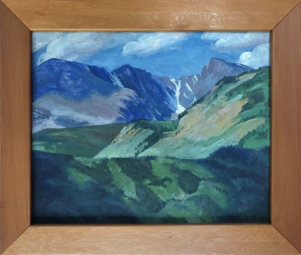 Mountain Sides - Taylor Glacier            1942 by Eugene Kingman