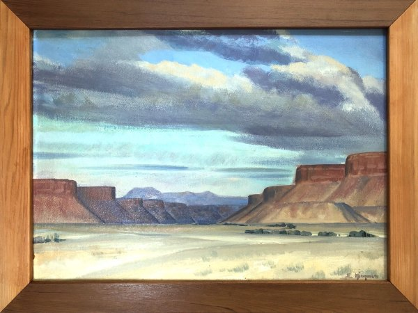 Navajo Canyon                1937 by EUGENE KINGMAN