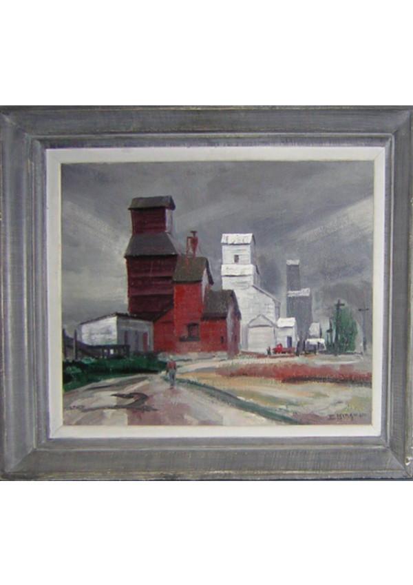 Nebraska Grain Elevators by EUGENE KINGMAN