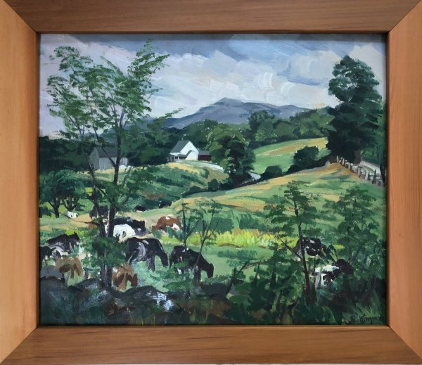New Hampshire Farm   c. 1953 by Eugene Kingman