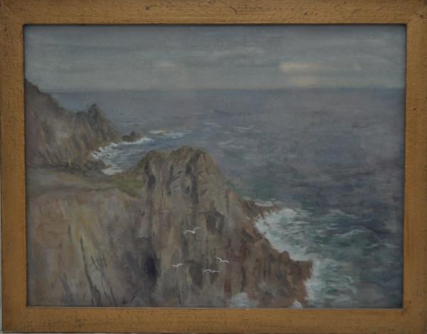 Plymouth Rocky Beach   1925 by EUGENE KINGMAN