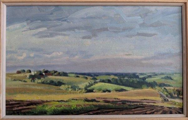 Summer Afternoon (Nebraska)  1957 by Eugene Kingman