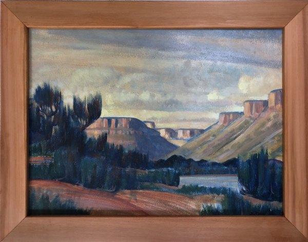 Upper Mancos Canyon  1937 by EUGENE KINGMAN