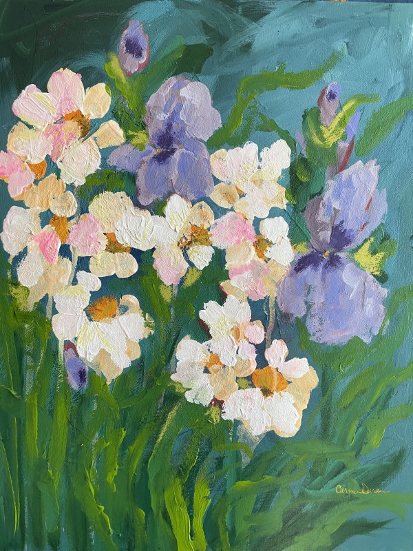 Daisies and Irises by Carmen Duran
