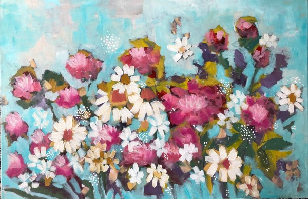Peonies and lace by Carmen Duran