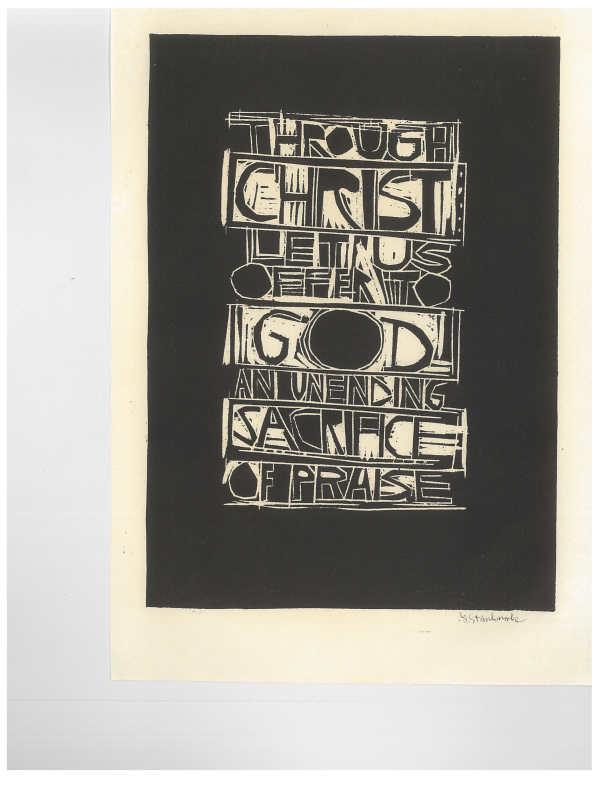 Through Christ by Meinrad Craighead