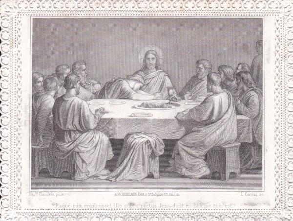 Itaque cum recubuisset ille supra pectus Iesu dicit ei: Domine quis est? by Luigi Ceroni
