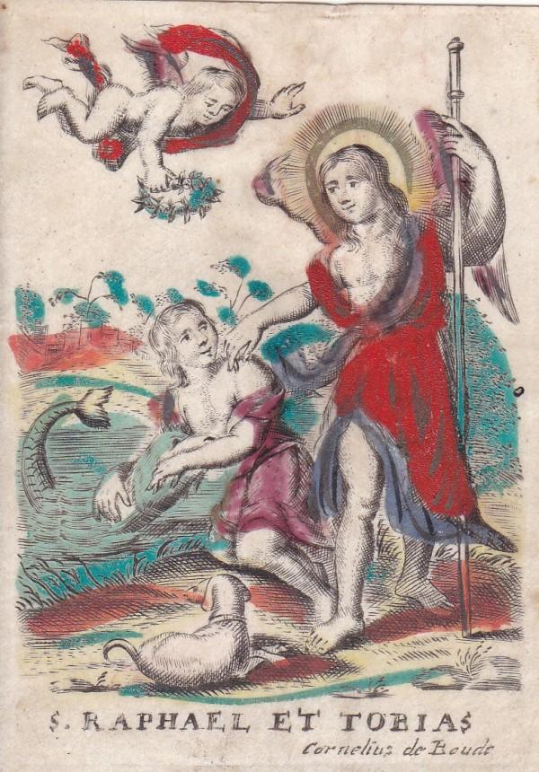 S. Raphael et Tobias by Cornelius de Boudt