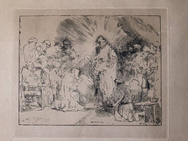 Christ Appearing to the Disciples by Rembrandt  Harmenszoon van Rijn