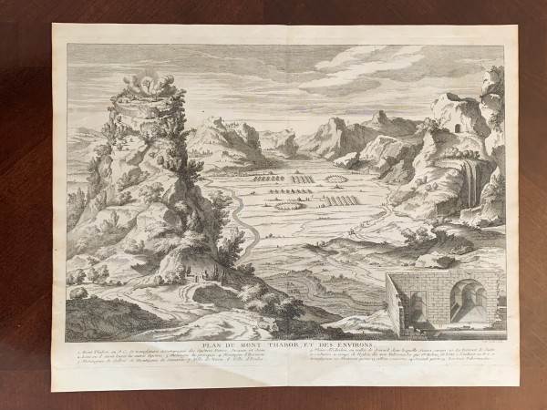 Plan du Mont Thabor, et des Environs by Jean Baptiste Scotin