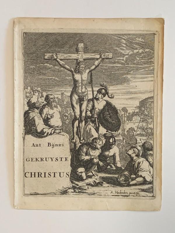 Gekruiste Christus by Arnold Houbraken