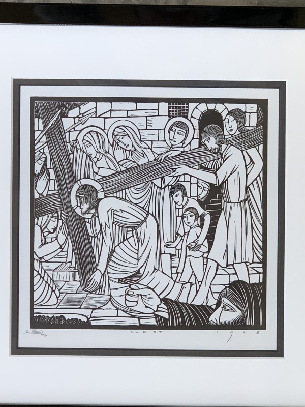 Carrying of the cross, The by Eric Gill