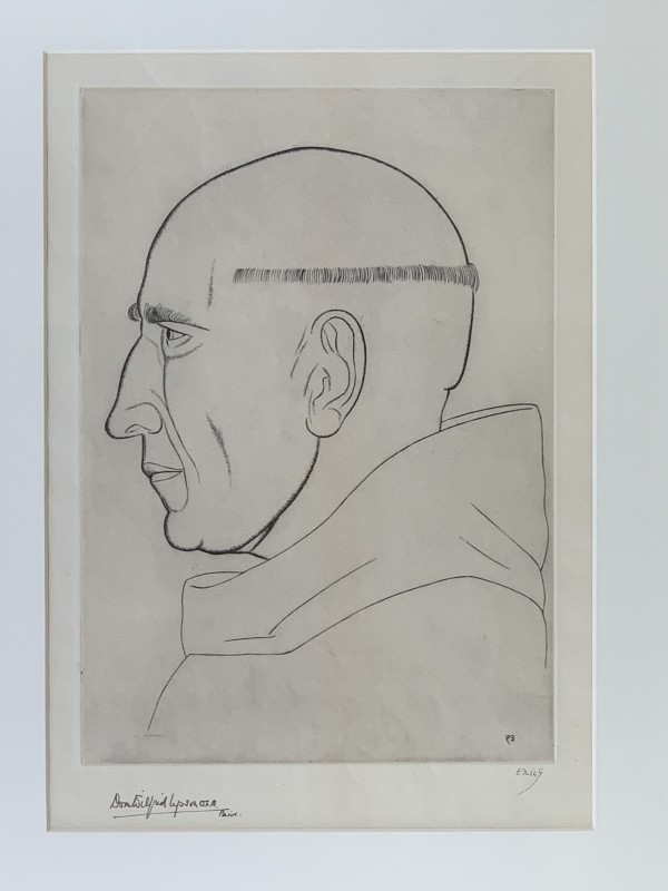 """Prior of Caldey, The (""""Dom Wilfred Upson, O.S.B."""") by Eric Gill"""