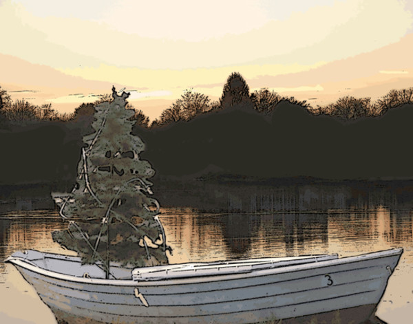 Kennebunkport Christmas Boat by Ann Tracy