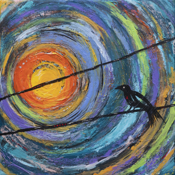 Bird On A Wire by Evelyn Dufner