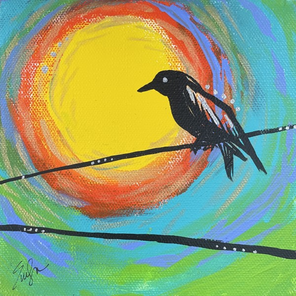 Little Bird on a Wire by Evelyn Dufner