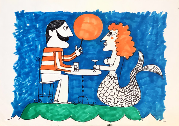 Mermaid Cafe by Morris Nathanson