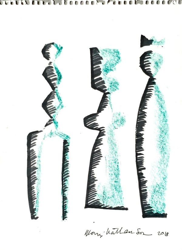Statuesque Figures by Morris Nathanson