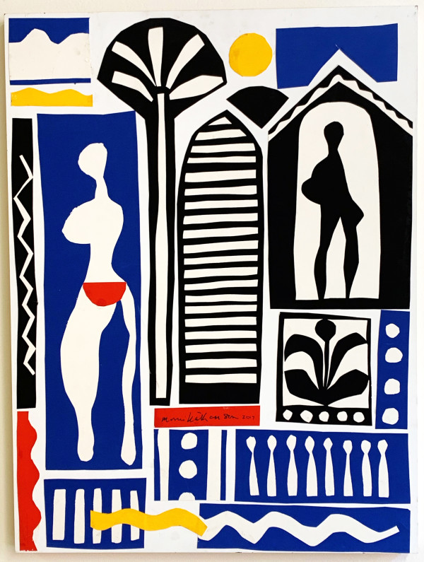 Carib Women, Lattice, and Palm Tree by Morris Nathanson