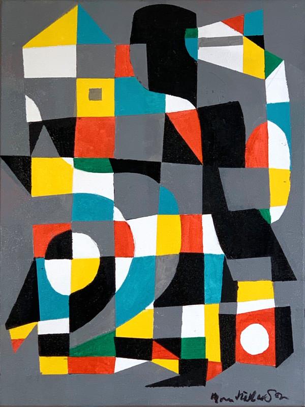 Geometric Village #1 by Morris Nathanson
