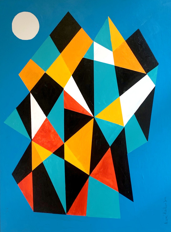 Blue Moon Over Mountains by Morris Nathanson