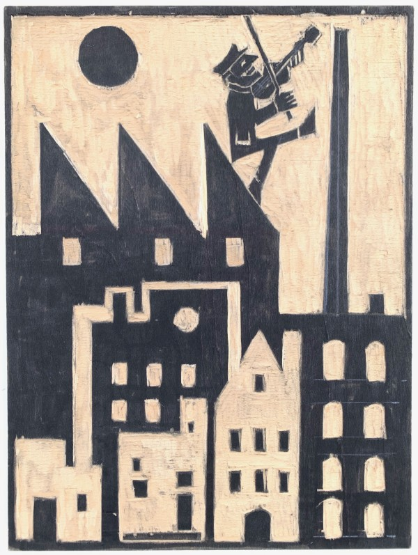 Fiddler on the Mill Roof by Morris Nathanson