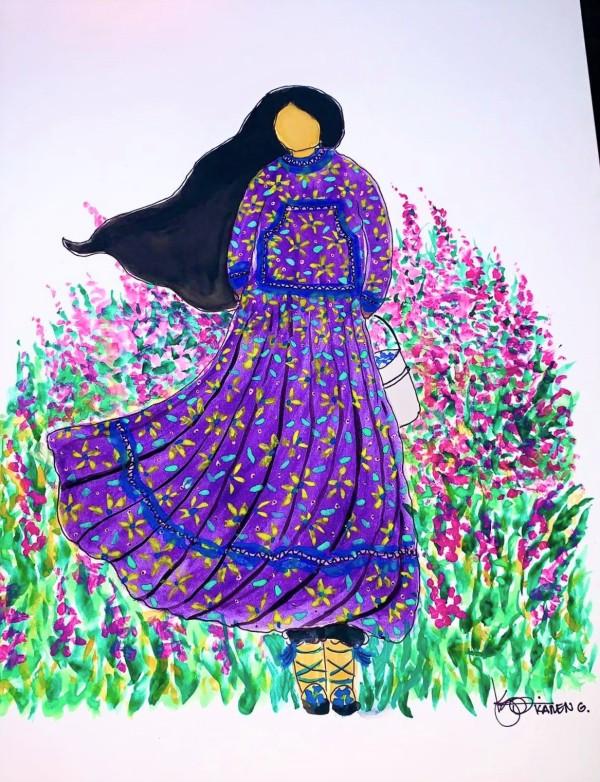 """""""Flower Girl"""" by ALASKAN WATERCOLORS BY KAREN"""